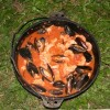 Seafood in a Camp Oven